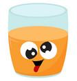 crazy orange juice on white background vector image vector image