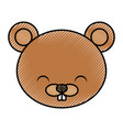 cute scribble beaver cartoon vector image vector image