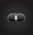 Dark metal cell interface with mic button vector image vector image