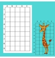 Draw on the squares A cute cartoon giraffe vector image vector image