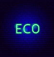 eco neon text vector image vector image