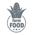 farm food logo simple style vector image