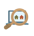 Finding Real Estate vector image
