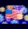 fireworks background for independence day usa vector image