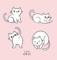 four cats in different poses vector image