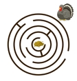 Game labyrinth find a way turkey vector image vector image