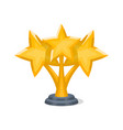 golden trophy cup with stars vector image vector image