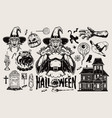 halloween monochrome concept vector image vector image