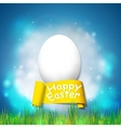 Happy easter card with egg Bright spring vector image