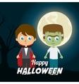 Happy halloween festival party design vector image vector image