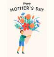 happy mothers day boy vector image vector image
