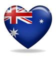 heart shape australia insignia vector image