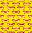 hot dogs on yellow background vector image vector image