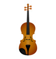 isolated violin musical instrument vector image