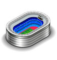 isometric stadium isolated on white vector image vector image