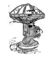large radio telescope vector image vector image