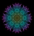 mandala black new 8 vector image vector image