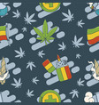 marijuana attributes icons set two vector image vector image