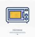microwave thin line icon vector image