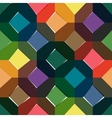 Octagon seamless colorful pattern vector image