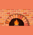 oven bonfire stove - cartoon vector image vector image