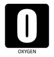 oxygen symbol vector image vector image