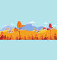 panoramic countryside landscape in autumn of vector image vector image