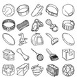 pet-3 tools set icon doodle hand drawn vector image vector image
