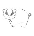 piglet single icon in outline stylepiglet vector image vector image