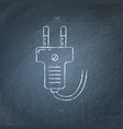 plug icon chalkboard sketch vector image