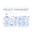 project management set organizing company vector image