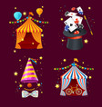 realistic detailed 3d circus set vector image