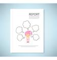 Report Dream girl cartoon vector image vector image