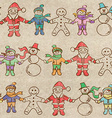 Retro Christmas seamless pattern vector image vector image