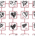 Retro hand-drawn sketches seamless background with vector image vector image