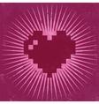 Retro Valentine Greeting Card vector image vector image