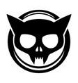 round black cat icon vector image