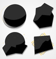Set black labels for store sales Stylish label vector image