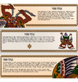 Set of asian banners vector image
