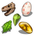 set of items on theme of ancient natural resources vector image vector image