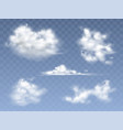 set of realistic clouds vector image