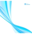 Shining blue flow vector image vector image