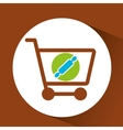 Shopping Cart with rolling pin vector image vector image
