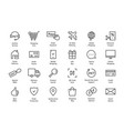 simple set black thin line ecommerce icon vector image vector image