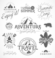 Summer Camp Adventure and Travel Design Elements vector image vector image