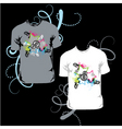 t-shirt with abstract star