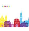 The Hague skyline pop vector image vector image