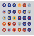The set is round Items for business statistics vector image vector image
