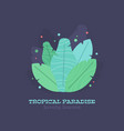 Tropical leaves summer flat composition