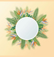 tropical palm leaves jungle leaves floral frame vector image vector image